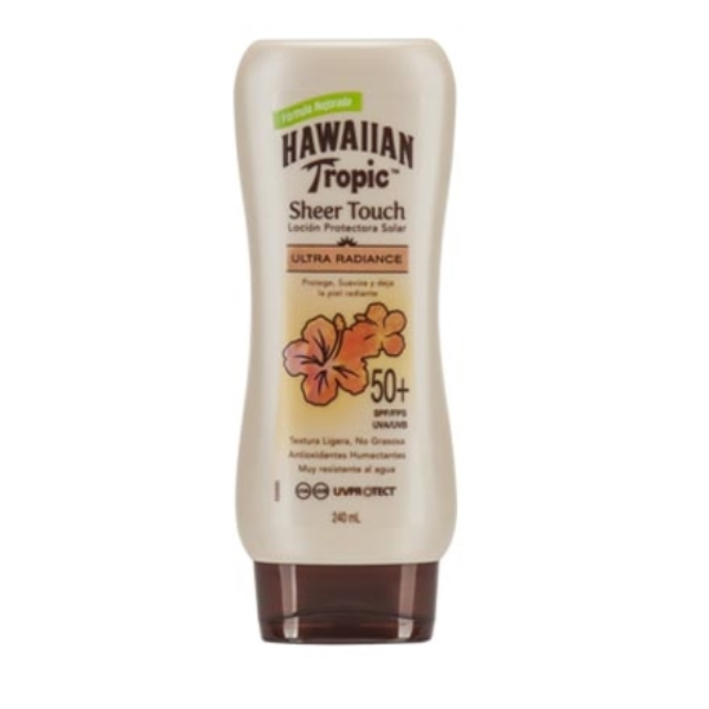HAWAIIAN BLOQUEADOR SHEER TOUCH RADIANCE FPS 50+ X 240 ml