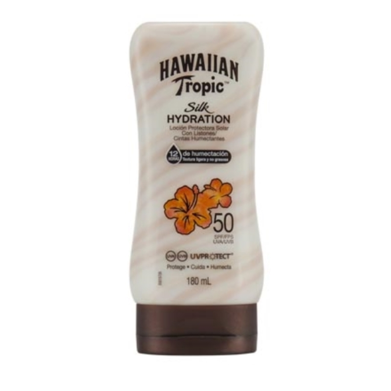 HAWAIIAN BLOQUEADOR SILK HYDRATION FPS 50 X 180 ml