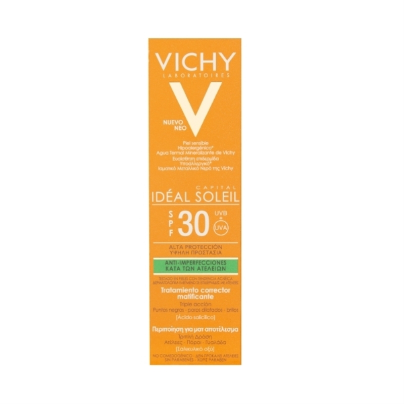 VICHY IDÉAL SOLEIL ANTI IMPERFECCIONES FPS 30 X 50 ml