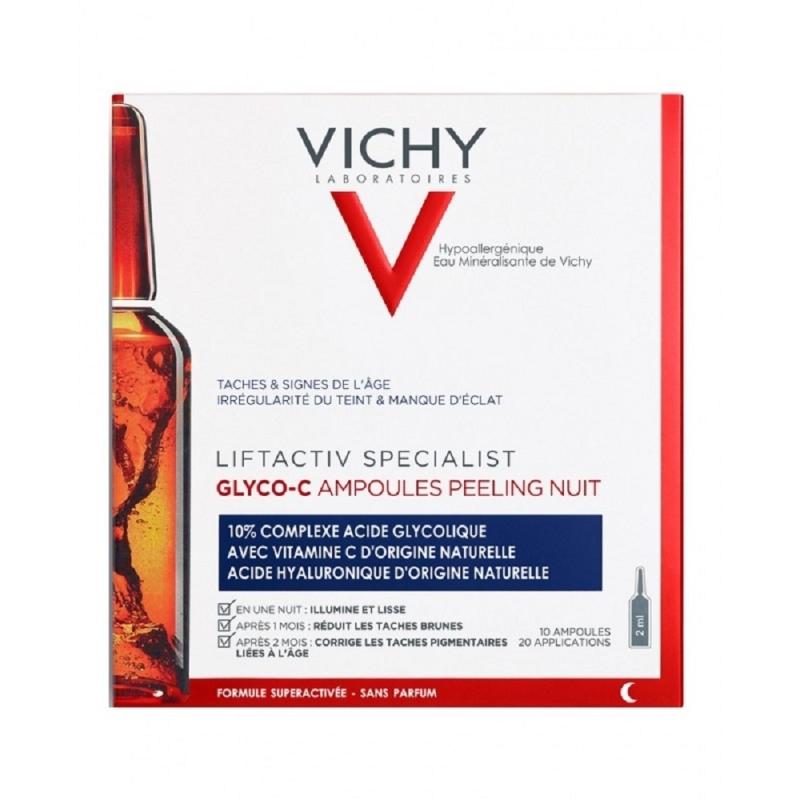 VICHY AMPOLLAS LIFTACTIVE GLYCO PEELING NOCHE X10