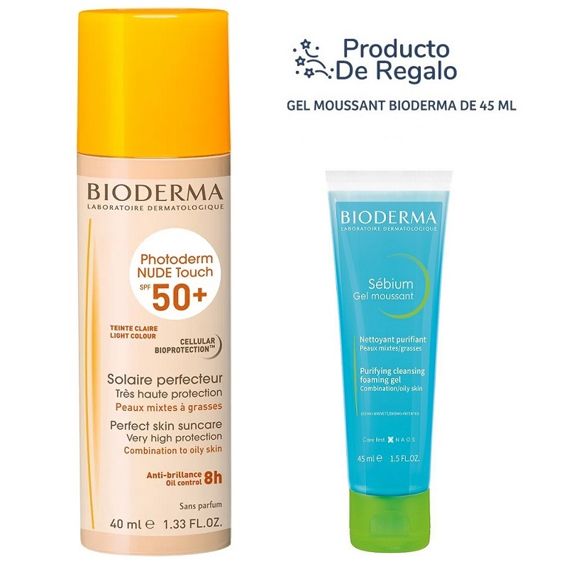 BIODERMA PHOTODERM NUDE TOUCH FPS50+ (GOLDEN TINT) X40ml