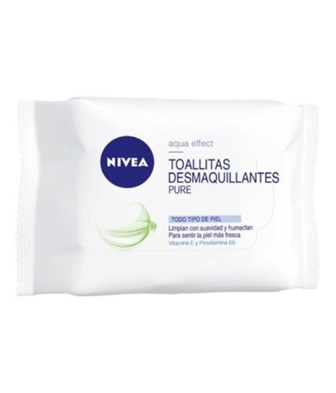 NIVEA TOALLITAS DESMAQUILLANTES PURE X25un