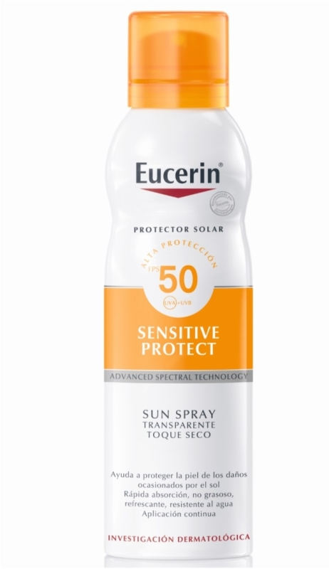 EUCERIN SPRAY TRANSPARENTE TOQUE SECO FPS 50 X 200 ml