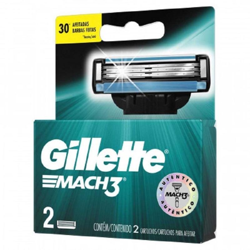 GILLETTE MACH3 CARTUCHO REPUESTO X 2 un
