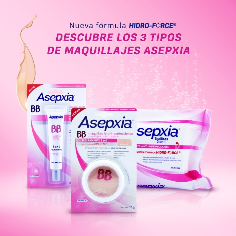 ASEPXIA BB ANTIIMPERFECCIONES 8EN1 POLVO NATURAL MATE