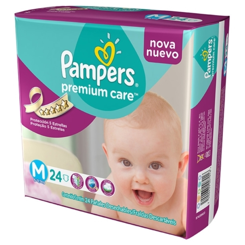 PAMPERS PAÑAL PREMIUM CARE MEGAPACK MEDIANO X 24 un