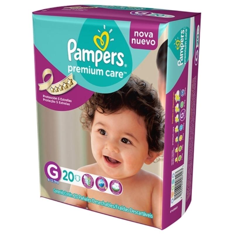 PAMPERS PAÑAL PREMIUM CARE GRANDE X 20 un