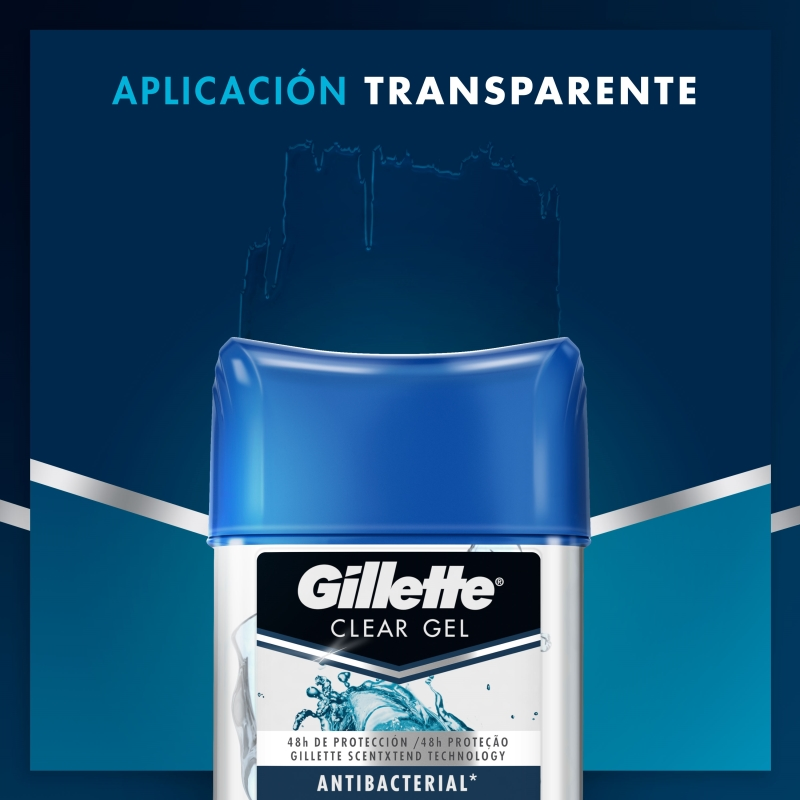 GILLETTE AP CLEARGEL ANTI-BAC 82GR