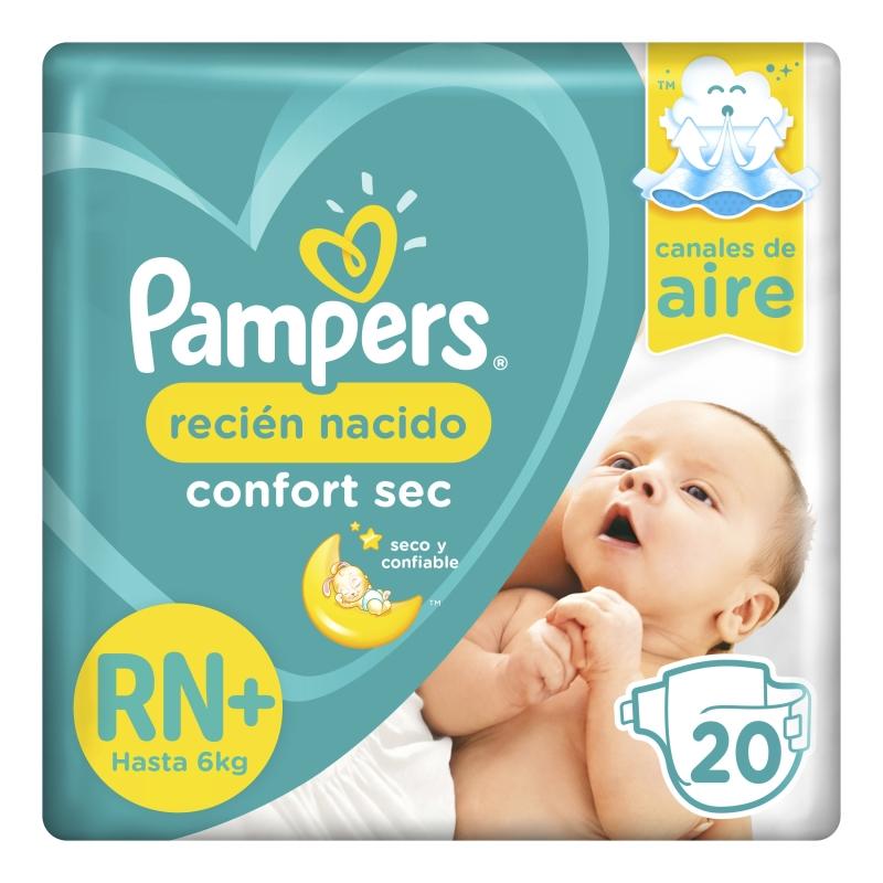 PAMPERS PAÑAL CONFORT SEC RECIEN NACIDO X20