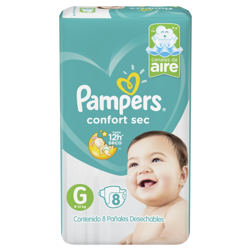 PAMPERS PAÑAL CONFORT SEC REGULAR GRANDE X 10 un