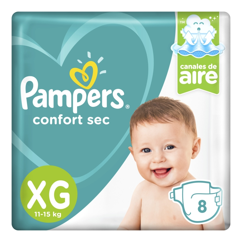 PAMPERS PAÑAL CONFORT SEC REGULAR XG X 10 un
