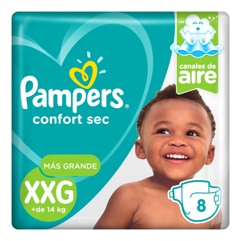 PAMPERS PAÑAL CONFORT SEC REGULAR XXG X 8 un