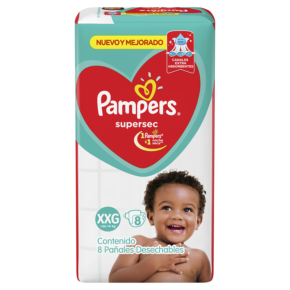PAMPERS SUPERSEC REGULAR XXGRANDE X8