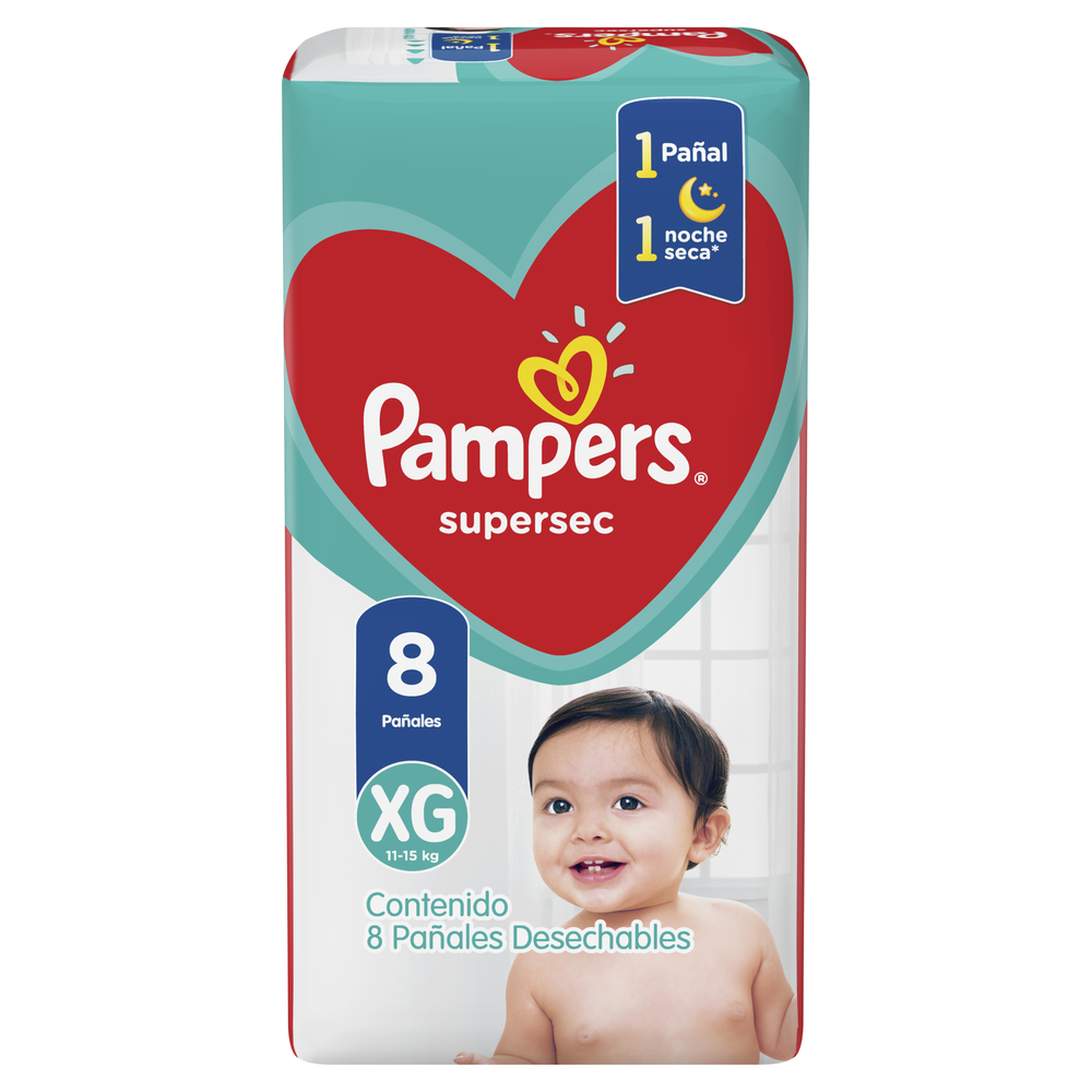PAMPERS PAMPERS PAÑAL SUPERSEC REGULAR XGRANDE X 8 U.