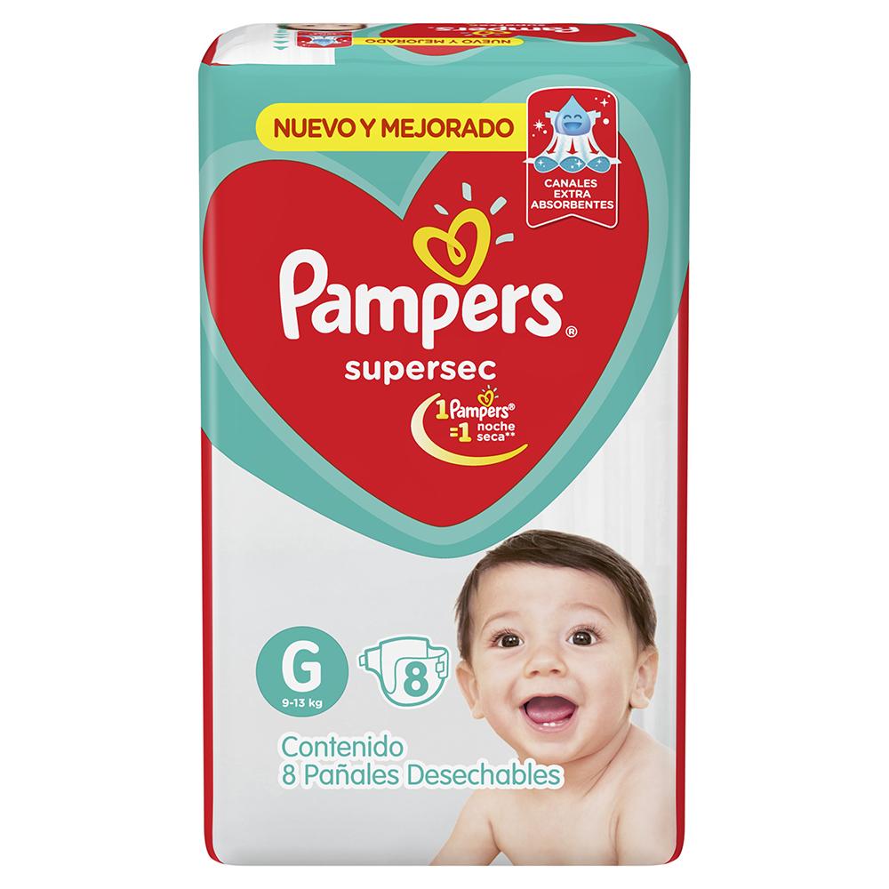 PAMPERS PAMPERS PAÑAL SUPERSEC REGULAR GRANDE x 8 U.