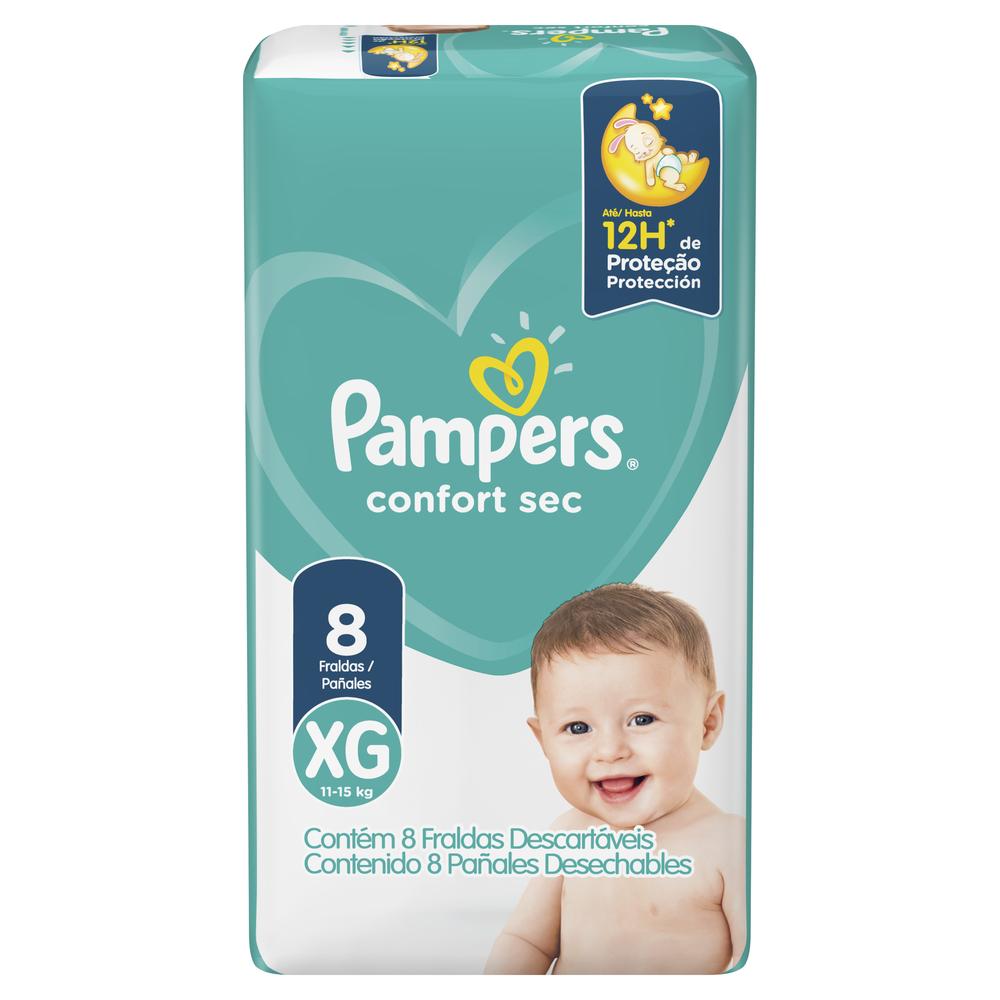 PAMPERS PAÑAL CONFORT SEC REGULAR XG X 10 un
