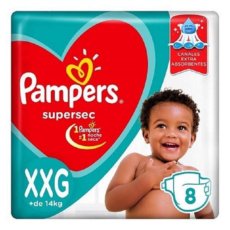 PAMPERS SUPERSEC REGULAR XXGRANDE X8