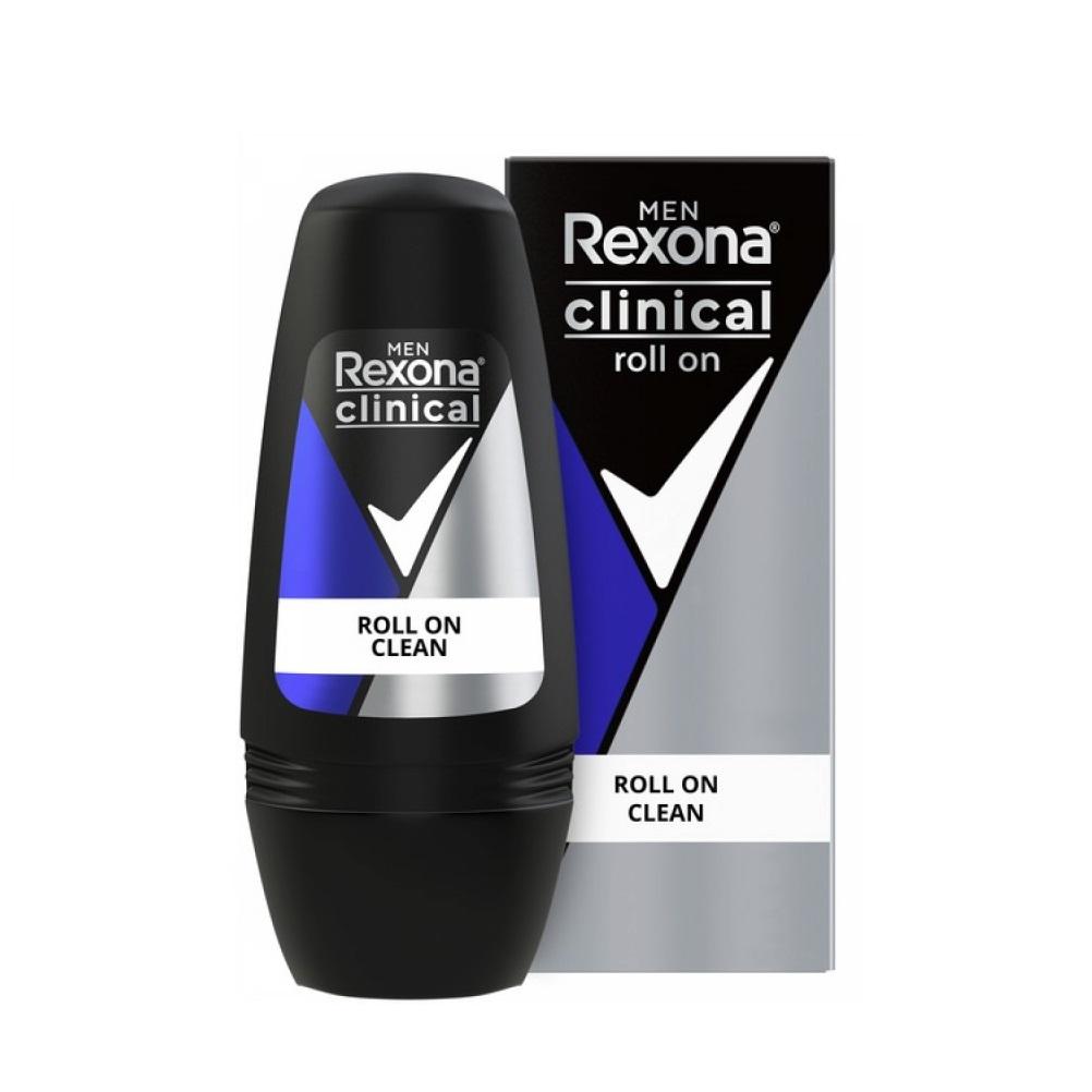 REXONA CLINICAL MEN CLEAN ROLL X 50