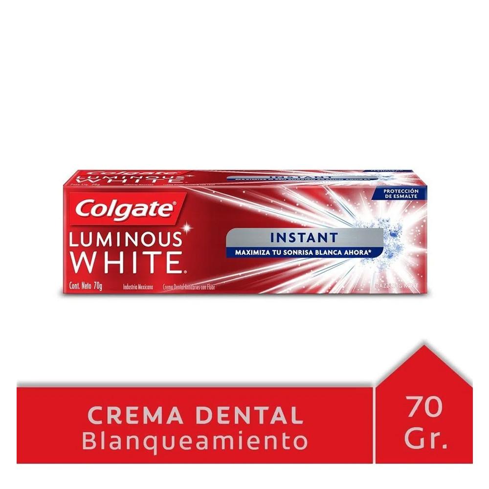 COLGATE CREMA LUMINOUS WHITE X 70 gr