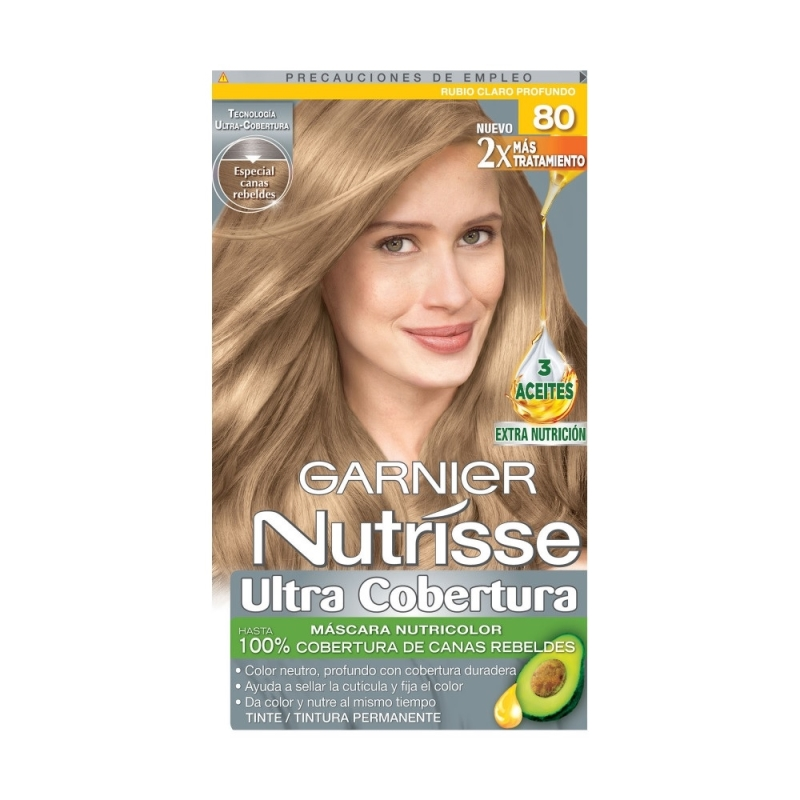 NUTRISSE ULTRA COVERTURA KIT 80 RUBIO CLARO PROFUNDO