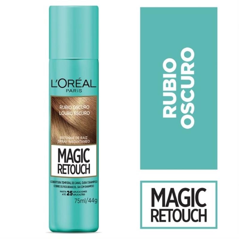L'OREAL MAGIC RETOUCH RUBIO OSCURO X 75 ML