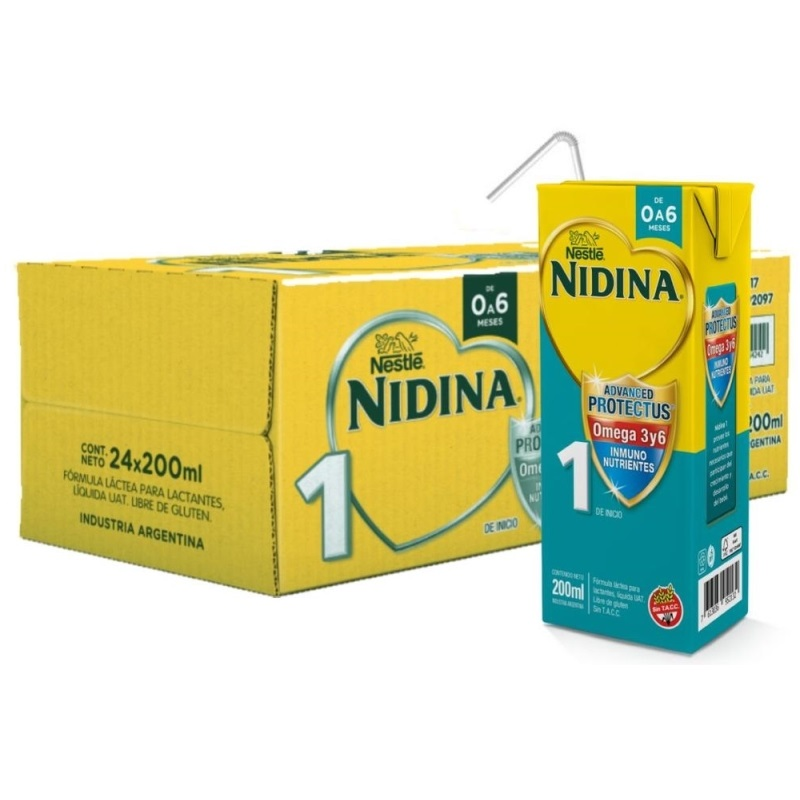 NESTLE NIDINA 1 LISTA PARA TOMAR 24 X200