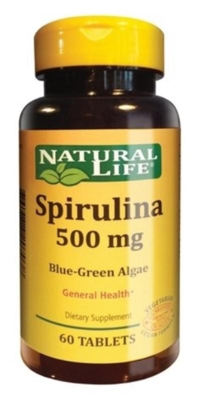 NATURAL LIFE SPIRULINA 500 MG X 60 un
