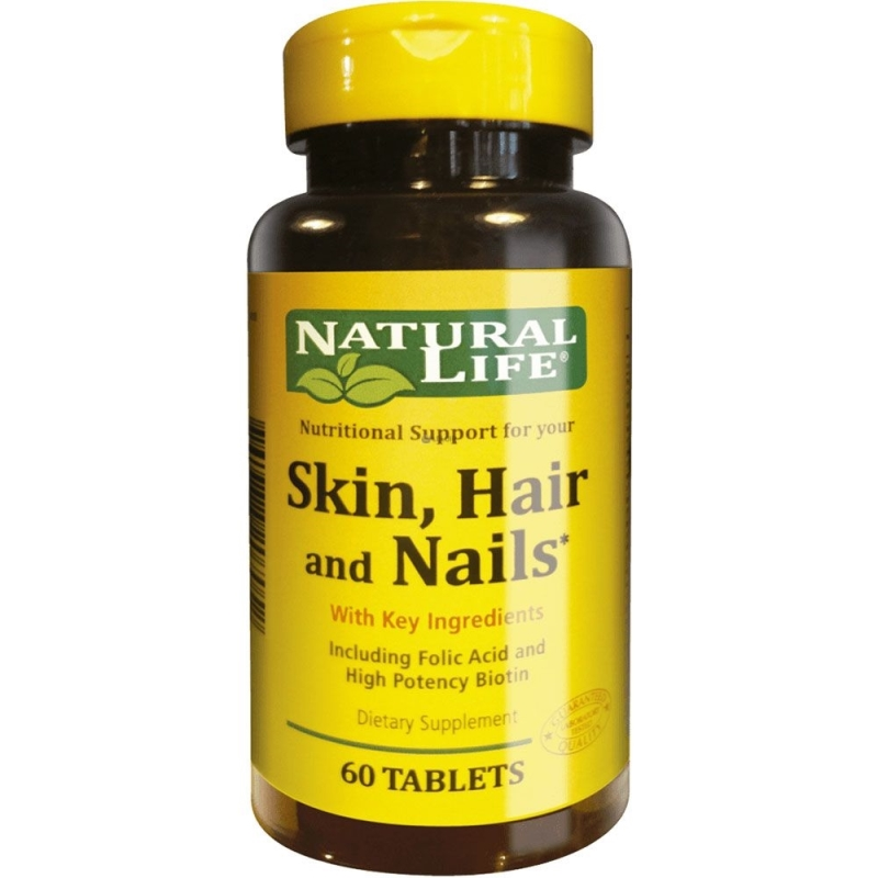 NATURAL LIFE SKIN HAIR AND NAILS X60