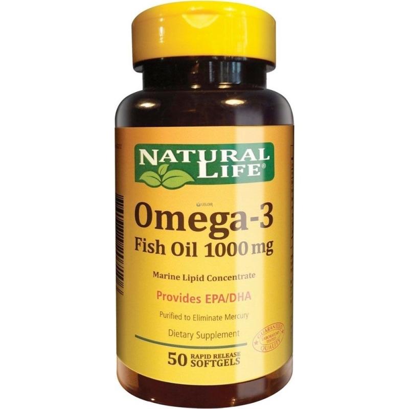 NATURAL LIFE OMEGA- 3 FISH OIL X 50 un