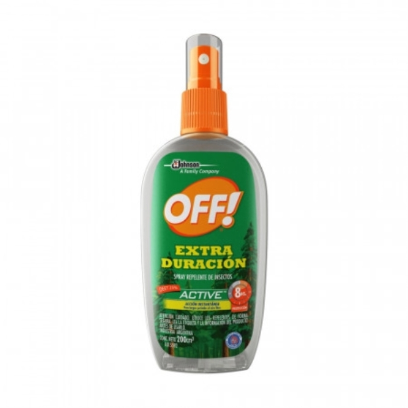 OFF SPRAY REPELENTE EXTRA DURACION ACTIVE X 200CM3