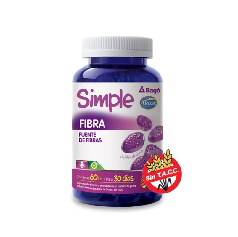SIMPLE(ARCOR) FIBRA X 60 CARAMELOS