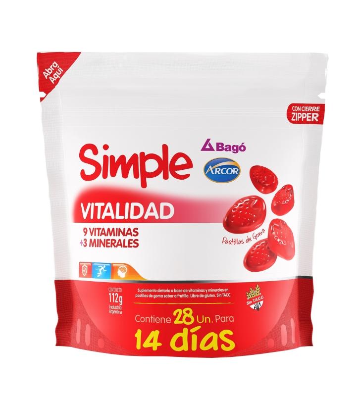 SIMPLE(ARCOR) VITALIDAD CARAMELOS X28