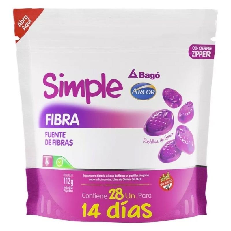 SIMPLE(ARCOR) FIBRA CARAMELOS X28
