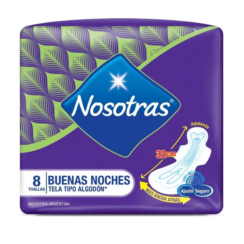 NOSOTRAS TOALLAS  NOCTURNAS X8