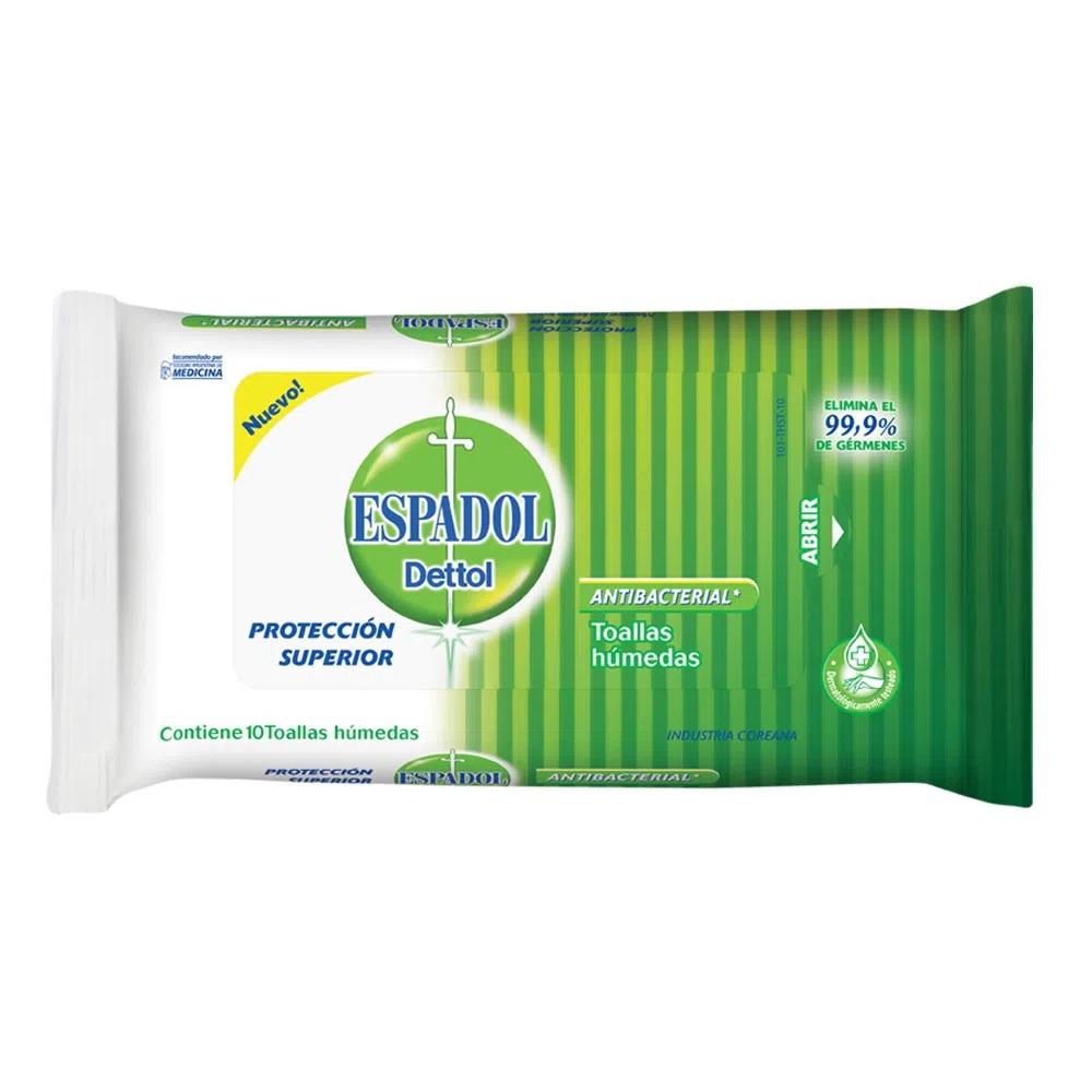 ESPADOL TOALLITAS  ANTIBACTERIALES  X 10 UN