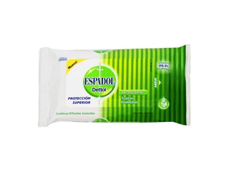 ESPADOL TOALLITAS ANTIBACTERIALES X 50 un