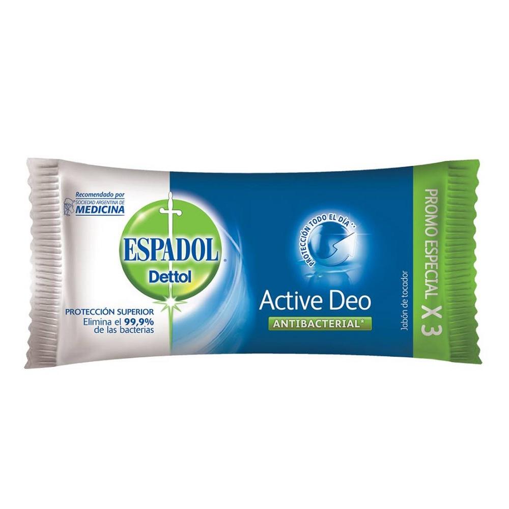 ESPADOL JABON ACTIVE DEO 90 GR X 3 UN