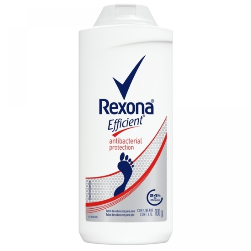 REXONA EFFICIENT TALCO ANTIBACTERIAL X 100 gr