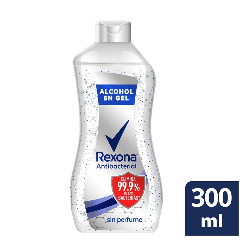 REXONA ALCOHOL EN GEL SIN PERFUME X 300 ML