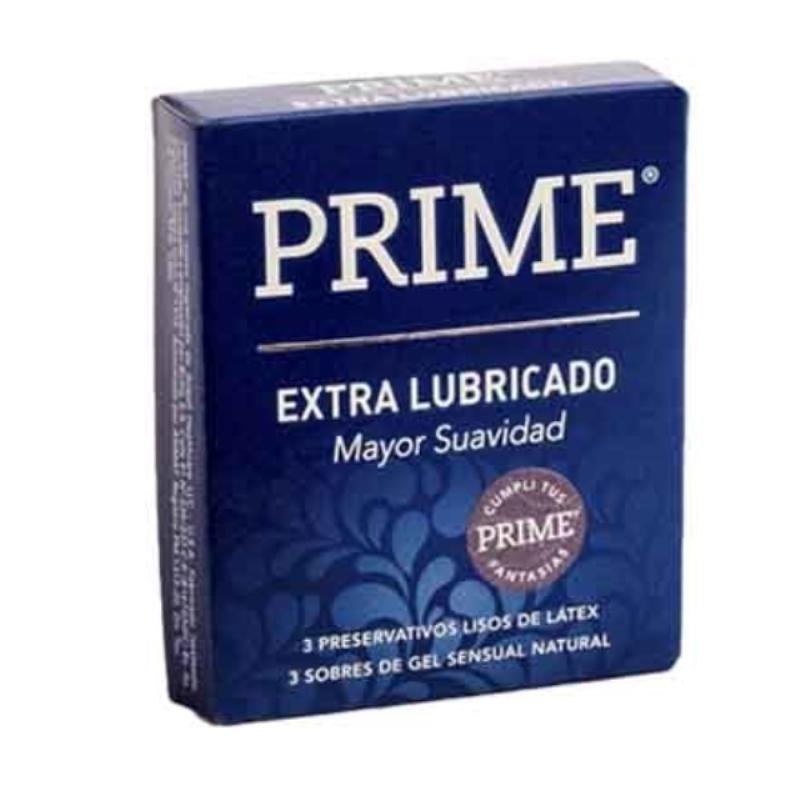 PRIME PRESERVATIVOS EXTRA LUBICADO X 3 un