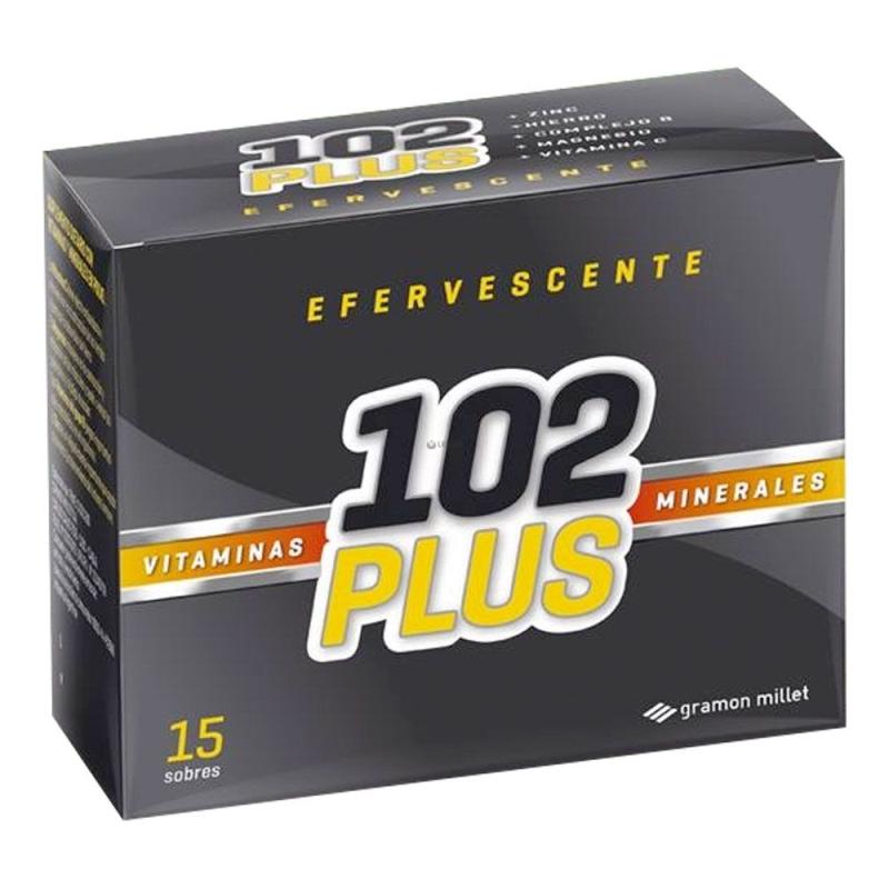 102 PLUS EFERVECENTE EN SOBRE  X  15 UNIDADES