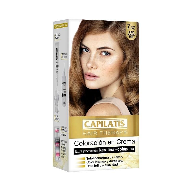 CAPILATIS  COLORACIÓN CREMA 7.32 RUBIO DORADO MIEL
