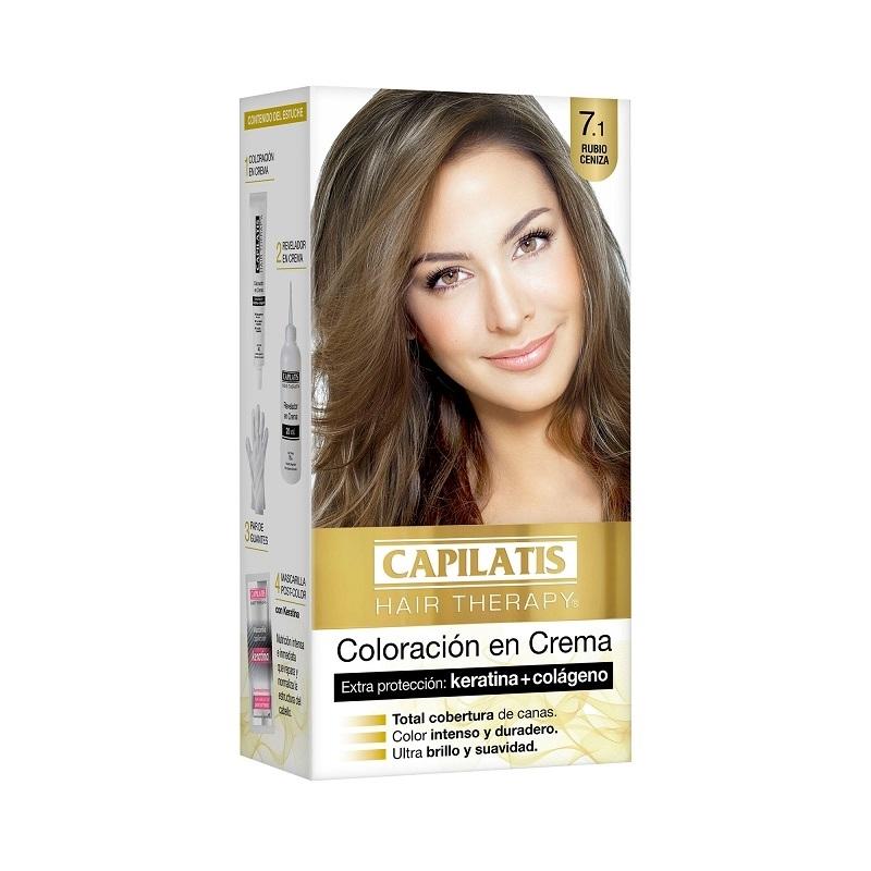 CAPILATIS  COLORACIÓN CREMA  7.1 RUBIO CENIZA
