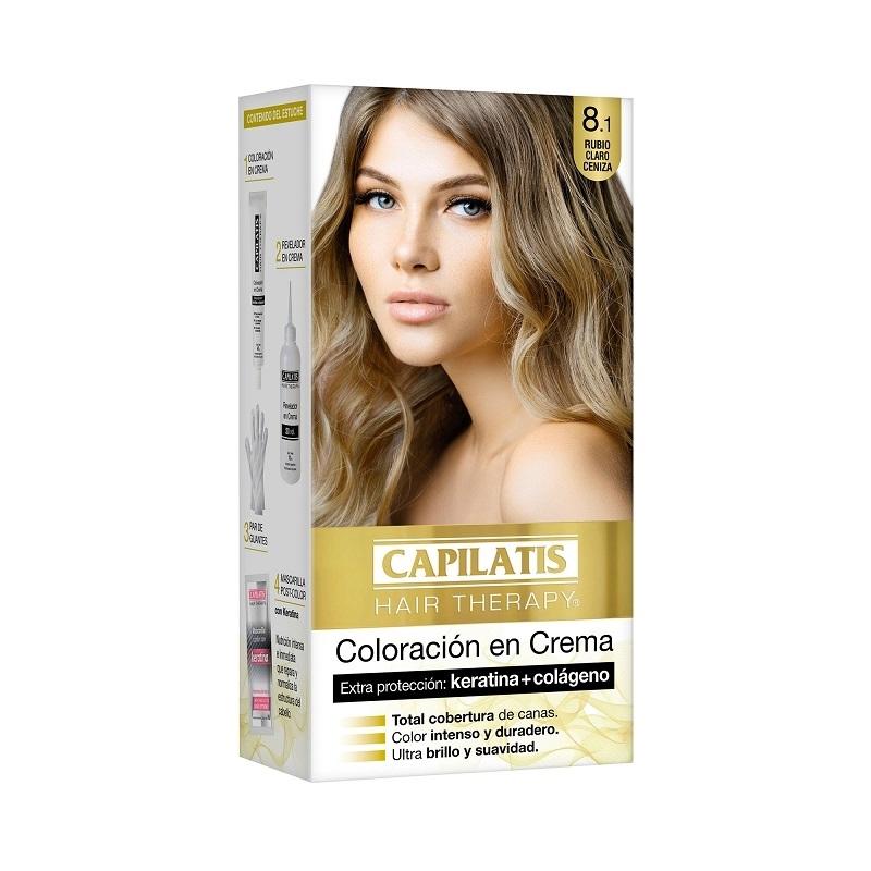 CAPILATIS  COLORACIÓN CREMA 8.1 RUBIO CLARO CENIZA