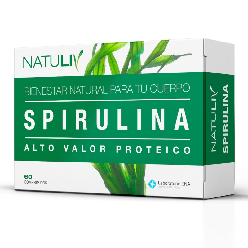 NATULIV SPIRULINA  ENV X   60