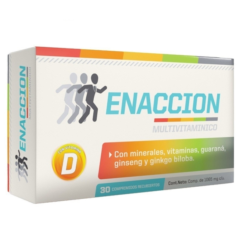 ENACCION MULTIVITAMINICO X 30 COMPRIMIDOS