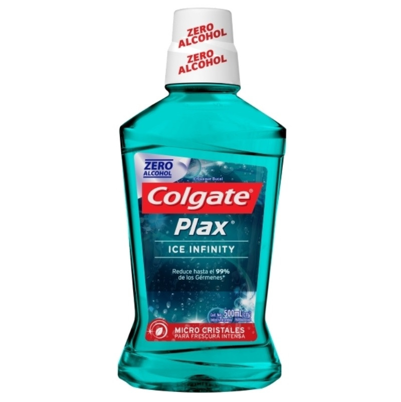 COLGATE ENJUAGUE BUCAL PLAX ICE INFINITY X 500 ml