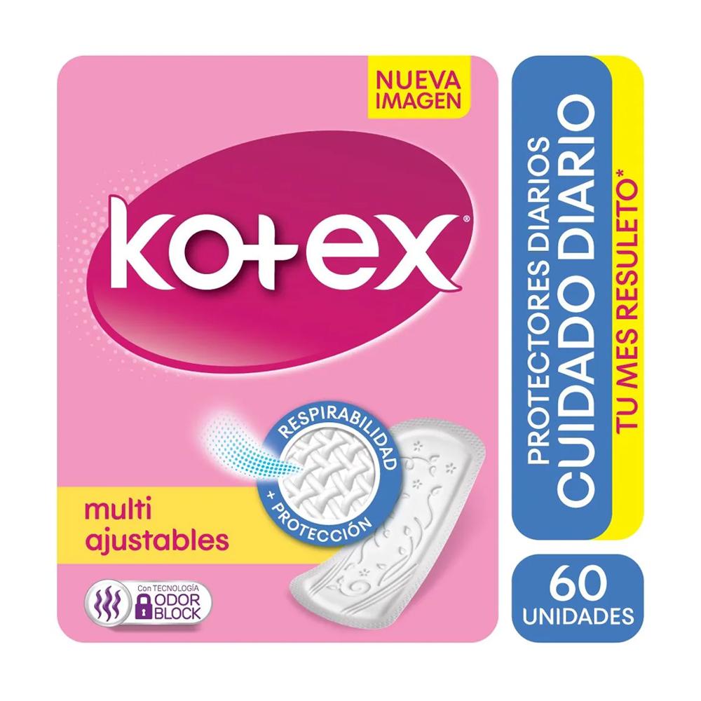 KOTEX PROTECTORES MULTIFORMA SIN PERFUME X 60