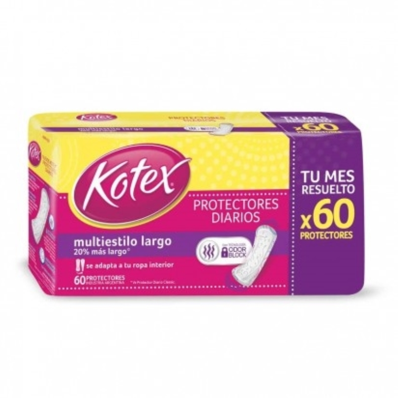 KOTEX PROT LARGO MULTIESTILO X60