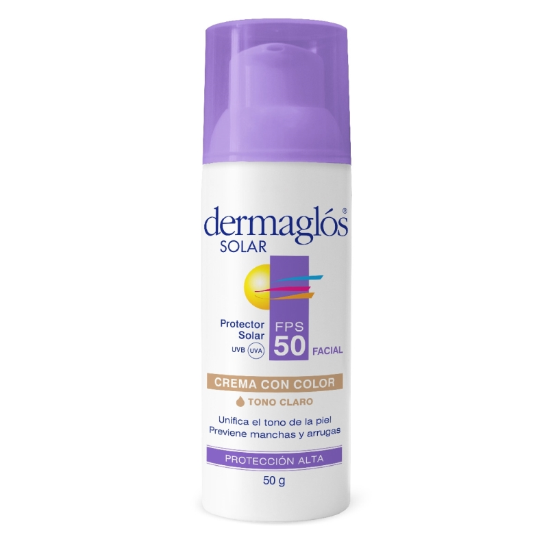 DERMAGLOS SOLAR FACIAL F50 COLOR x 50 ml